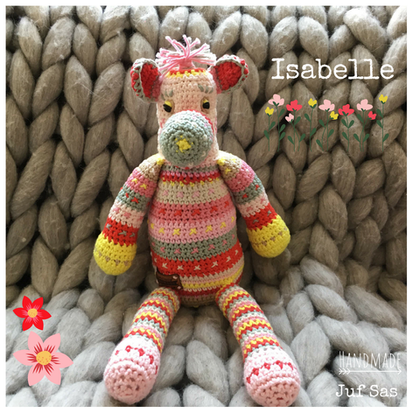 Isabelle handmade by juf Sas met gratis patroon