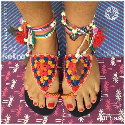 Flip flops Retro handmade by juf Sas met gratis haakpatroon
