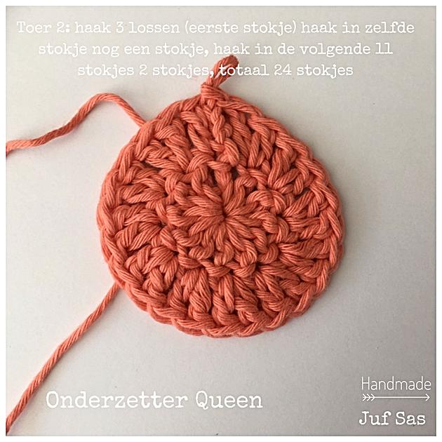 Onderzetters Queen Handmade By Juf Sas Met Gratis Patroon Creatief