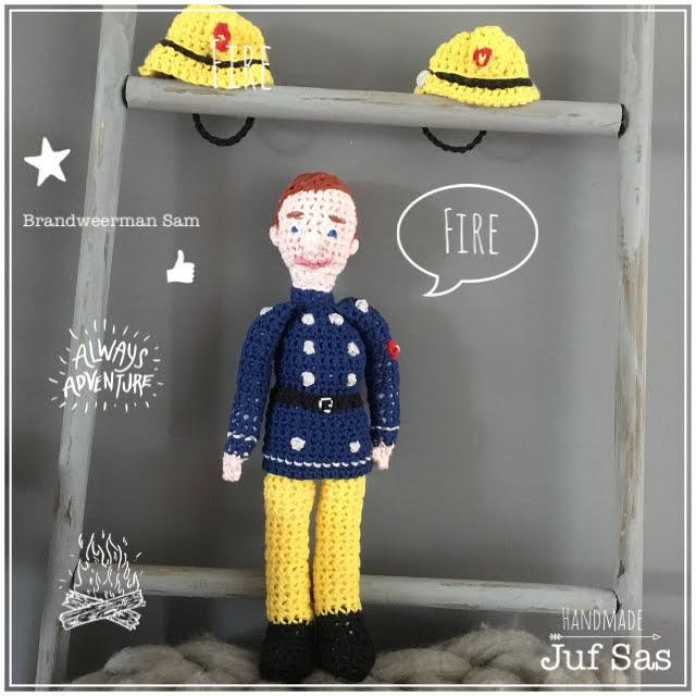 Brandweerman Sam Handmade By Juf Sas Met Gratis Patroon Creatief