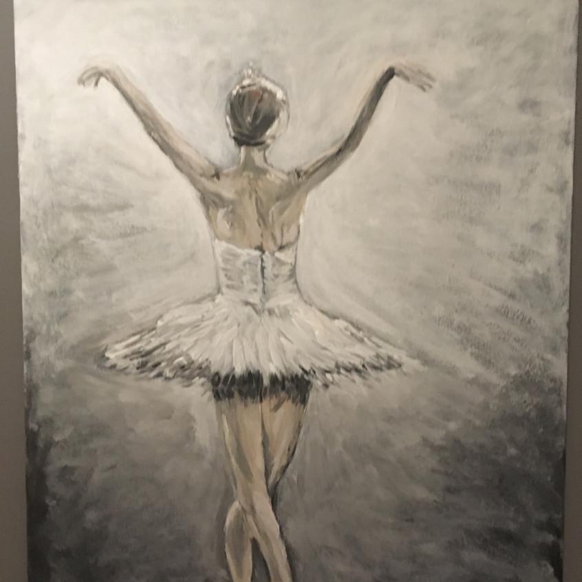 schilderij Ballerina