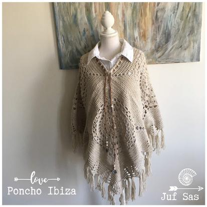 Poncho Ibiza, granny square deel 3, handmade by juf Sas met gratis patroon