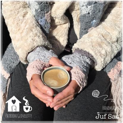 Gehaakte Gloveletty, handschoen zonder vingers handmade by juf Sas met gratis patroon