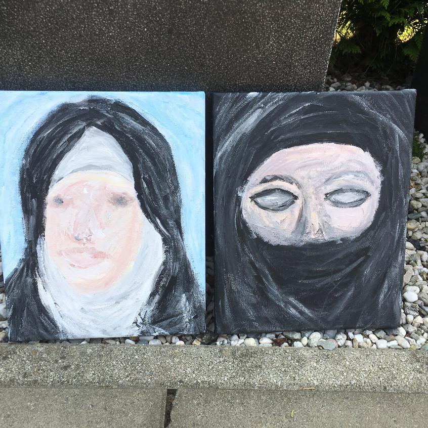 Schilderij twee vrouwen
