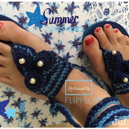 Flip flops Summer handmade by juf Sas met gratis haakpatroon