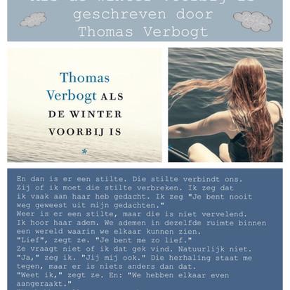 """Boekquote uit """"Als de winter voorbij is"""" geschreven door Thomas Verbogt"""