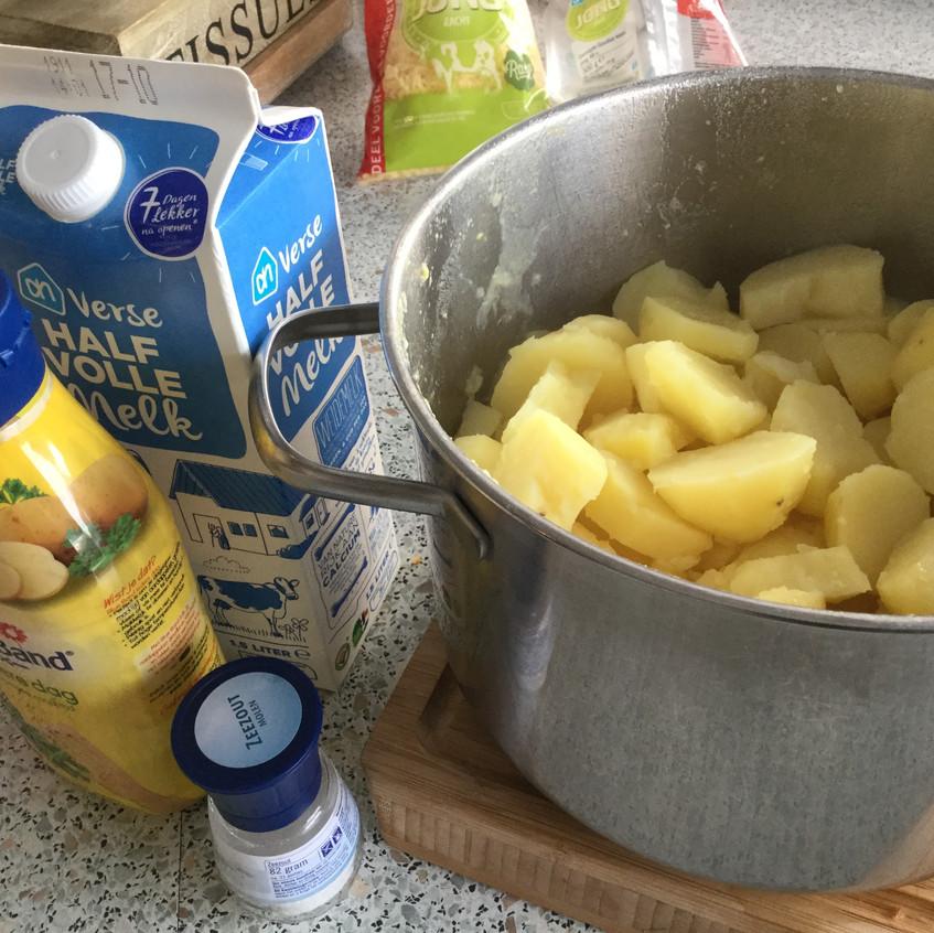 maak de aardappelpuree