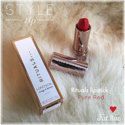 Rituals lipstick Pure Red, tip van juf Sas