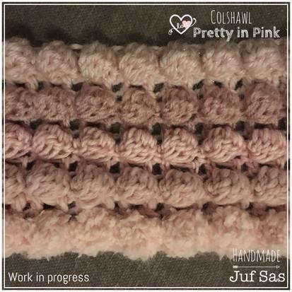 Work in Progress, colshawl Pretty in pink handmade by juf Sas