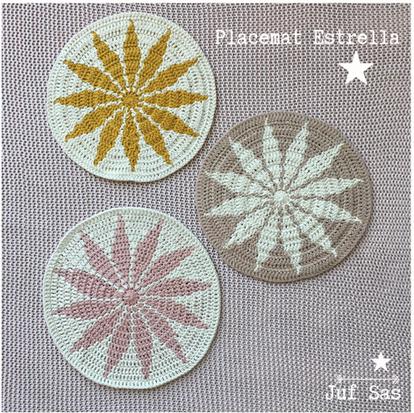 Placemat Estrella handmade by juf Sas met gratis haakpatroon