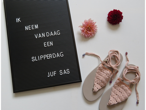 Gehaakte Flip Flops Marlene handmade by juf Sas met gratis haakpatroon