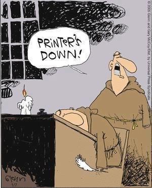 Hoe ging dat vroeger eigenlijk, printen?
