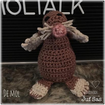 De mol handmade by juf Sas met gratis patroon