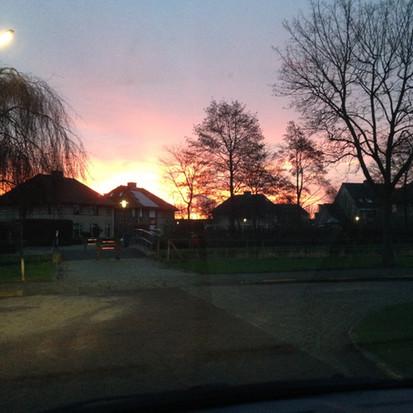 Foto van de week, zonsopgang in Tholen