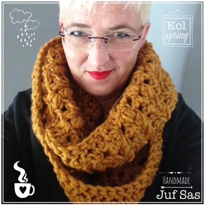 Colshawl Spring handmade by juf Sas met gratis haakpatroon