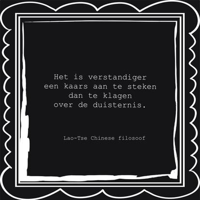 Quote van de week van Chinese filosoof Lao-Tse
