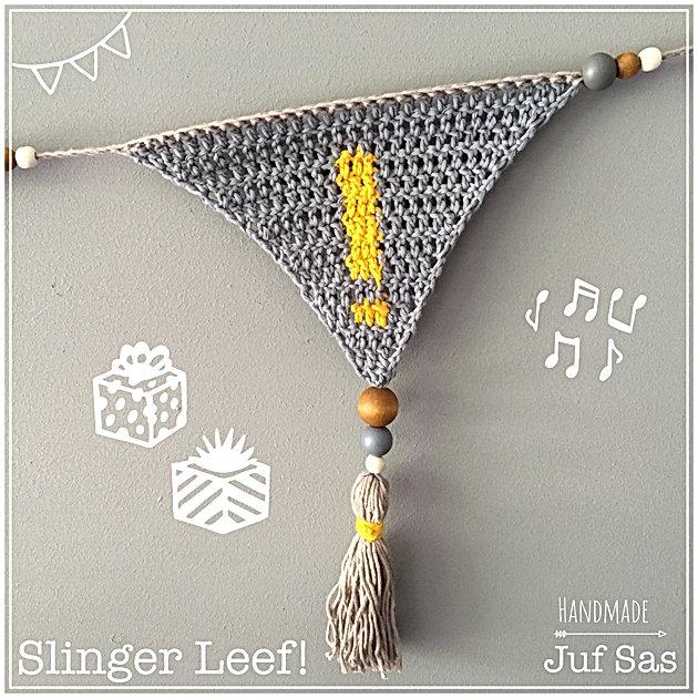 Gehaakte Slinger Leef Handmade By Juf Sas Met Gratis Patroon