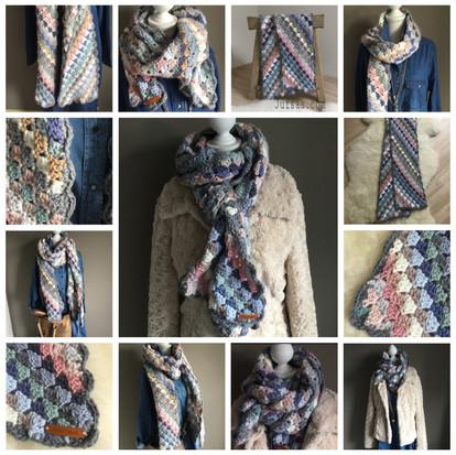 Corner to corner shawl handmade by juf Sas met gratis haakpatroon