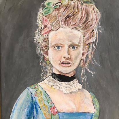 Schilderij 'Antoinette' geschilderd door juf Sas