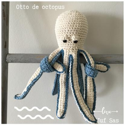 Otto de Octopus handmade by juf Sas met gratis haakpatroon