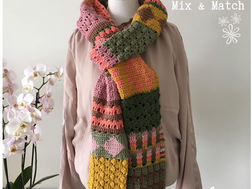 Shawl Mix & Match handmade by juf Sas met gratis haakpatroon