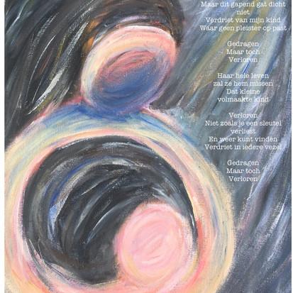 Verloren kind, schilderij en gedicht van juf Sas