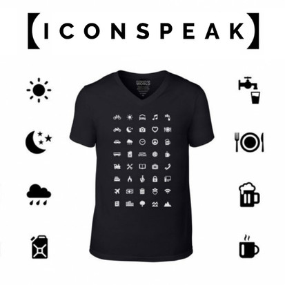 Iconspeak, because with ICONs, you can SPEAK, you can SPEAK to the world.