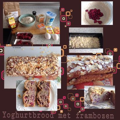 Yoghurtbrood met frambozen, het recept