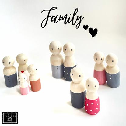 Peg dolls, onze familie