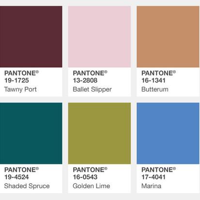 De kleuren voor najaar 2017 volgens Pantone
