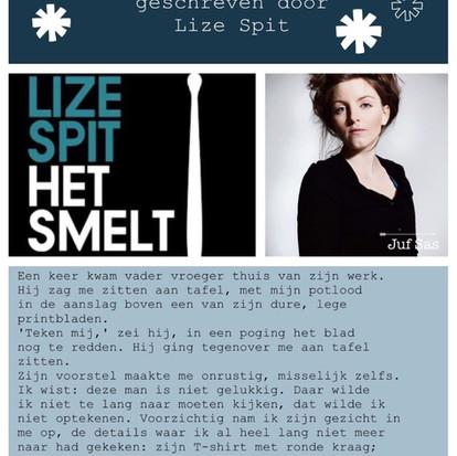 Boekquote uit 'Het smelt' geschreven door Lize Spit