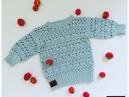 Haakpatroon zomertrui Nellie handmade by juf Sas
