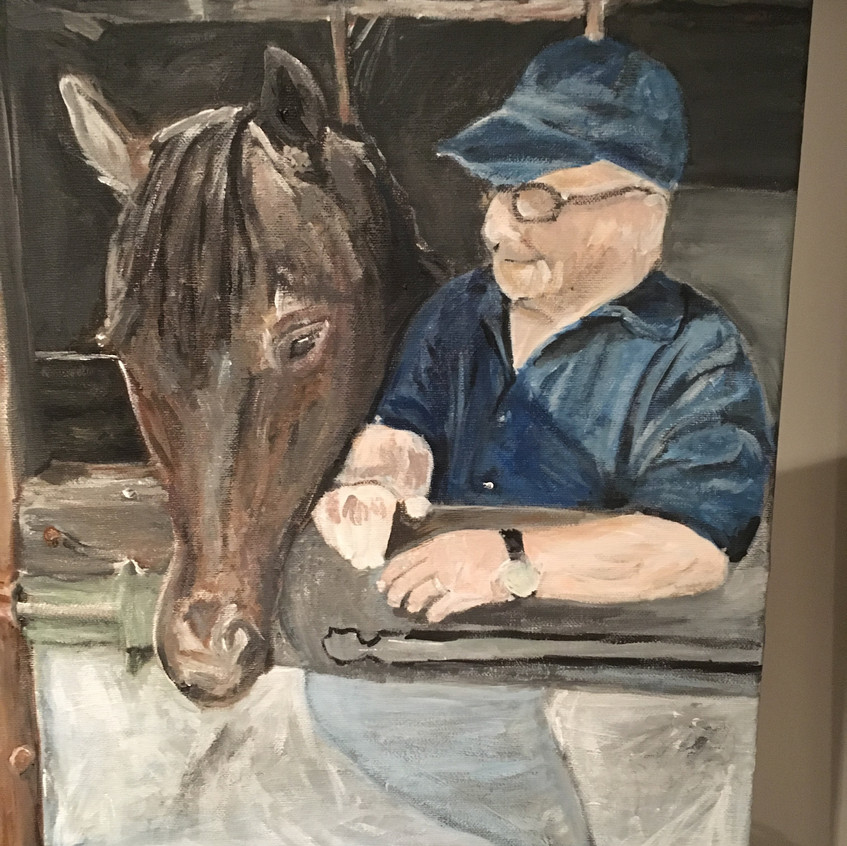 Schilderij Opa