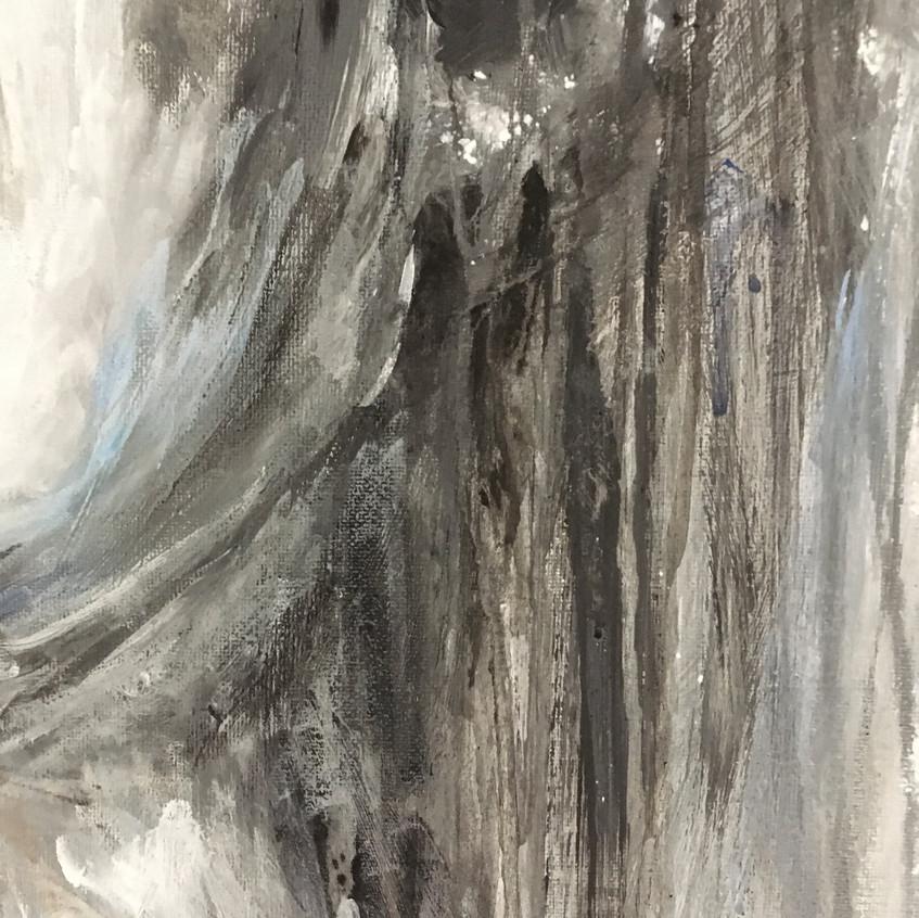 Schilderij Blue moon