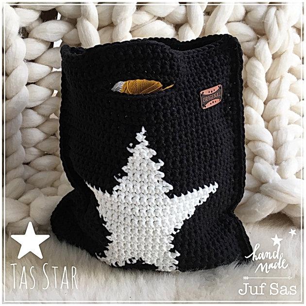 Super Tas Star handmade by juf Sas met gratis patroon | Creatief &QS82