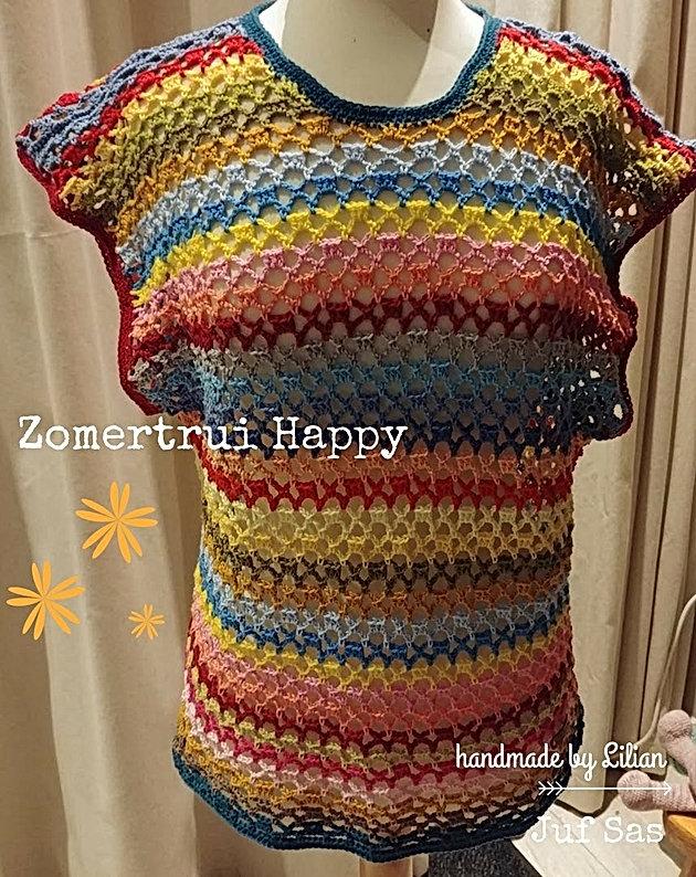 Zomertrui Happy Handmade By Jenny En Lilian Met Gratis Patroon Van