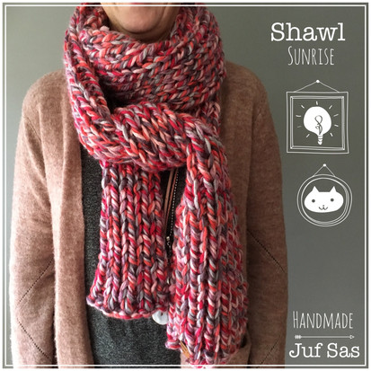 Shawl Sunrise handmade by juf Sas