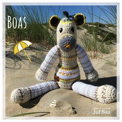 Boas handmade by juf Sas met gratis patroon