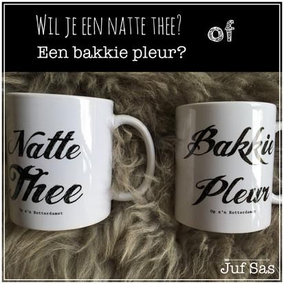 Op z'n Rotterdamst, een natte thee of een bakkie pleur.