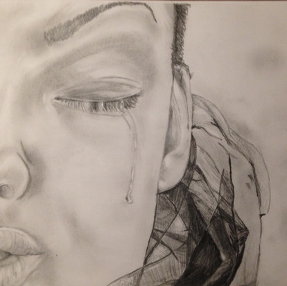 Tekening met potlood, de naakte waarheid