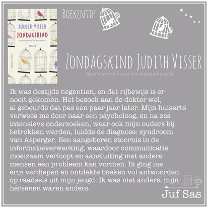 Boekquote uit 'Zondagskind' geschreven door Judith Visser