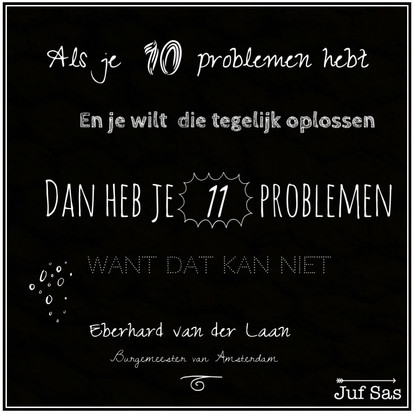 Quote van de week over problemen van Eberhard van der Laan