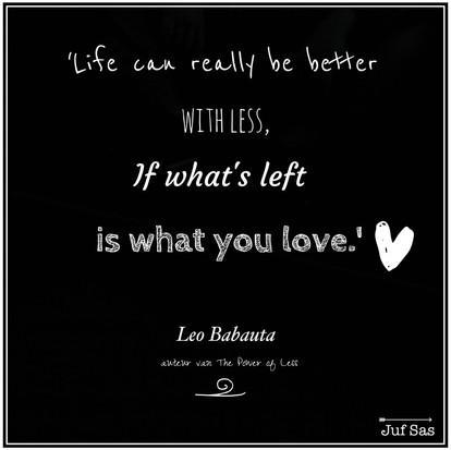 Quote van de week van Leo Babauta van Zen Habits