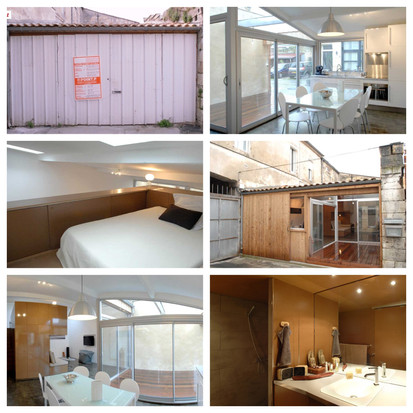 Een garage of appartement