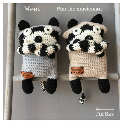Pim the musicman handmade by juf Sas met gratis patroon