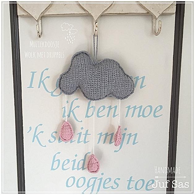 Gehaakt Muziekdoosje Wolk Met Druppels Handmade By Juf Sas Met