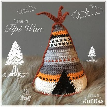 Tipi Wan handmade byjuf Sas met gratis haakpatroon