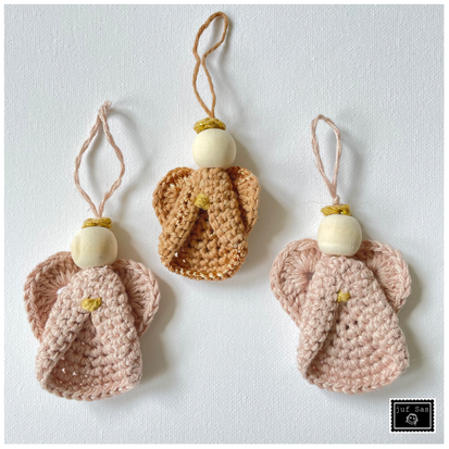 Gehaakte engeltjes handmade by juf Sas met gratis haakpatroon