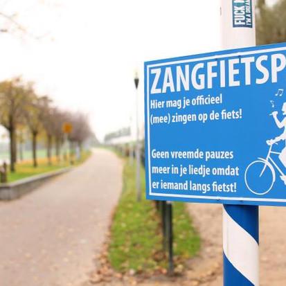 Zangfietspad, uit volle borst zingen op de fiets