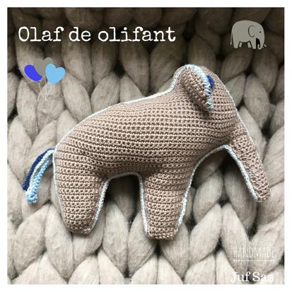 Olaf de olifant handmade by juf Sas met gratis patroon
